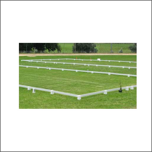 60mt x 20mt portable dressage arena and letter cones